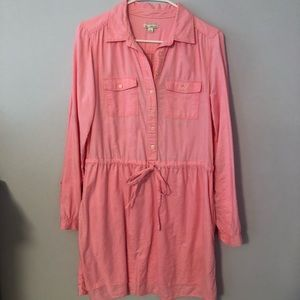Pink Gap Shirt Dress